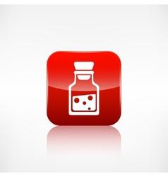 Laboratory medical flaskapplication button vector
