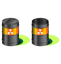 radioactive waste barrels vector image vector image