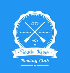 Rowing club vintage logo emblem sign vector