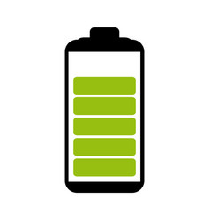 battery symbol with level indicator charge vector image
