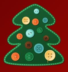 Button Christmas tree vector image vector image
