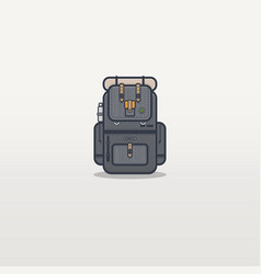 travel backpack line vector image vector image