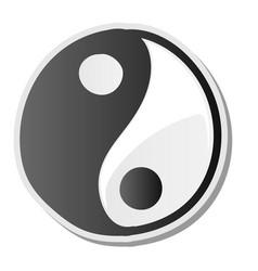 Yin yang symbol of harmony and balance sticker vector