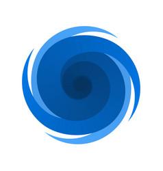 blue symbol sign of a storm hurricane vector image