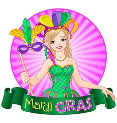 Mardi Gras Design vector image vector image