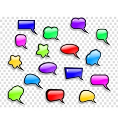shiny speech bubbles set vector image