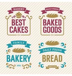 Vintage Bakery Labels vector image vector image