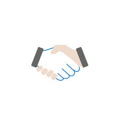 business handshake solid icon deal agreement vector image vector image