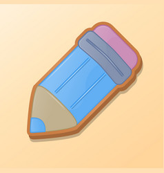 colorful pencil with an eraser in the form of vector image
