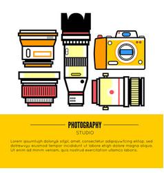photographer or photostudio concept design vector image