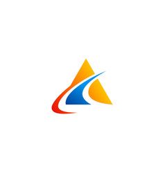triangle business finance company logo vector image