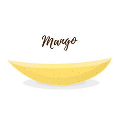 3d realistic tropical fruit - mango slice vector