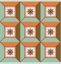 abstract geometric christmas colors vector image