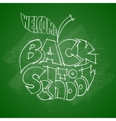 Back to school chalk lettering inscribed in the vector