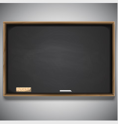 Back to school chalkboard background vector