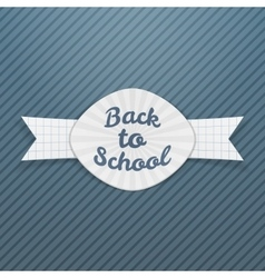 Back to School paper Tag with Ribbon vector