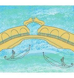 Background with venetian gondola vector