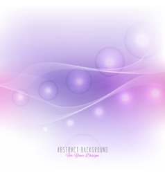 Background with wavy lines and glowing spheres vector