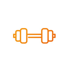 barbell weight sport gym fitness gradient line vector image