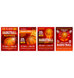 Basketball poster set vector