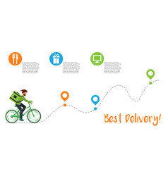 Best delivery infographic courier rides along vector
