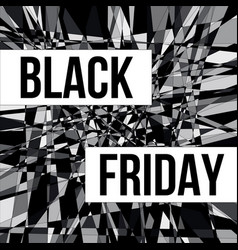 black friday sale design poster vector image