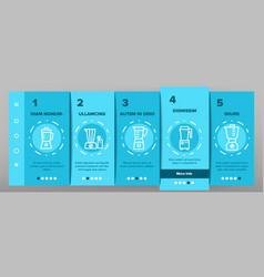 blender kitchen tool onboarding icons set vector image