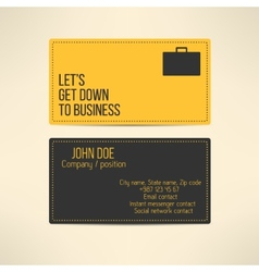 Business card template made in yellow and gray vector image