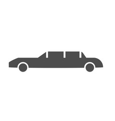 car limousine icon black and white vector image