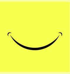 cartoon smile logo vector image