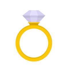 Ceremonial diamond ring icon flat style vector