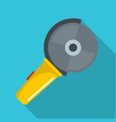 circular saw icon flat style vector image