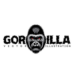 color with gorilla head and vector image