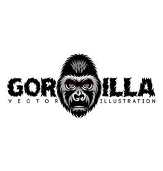 color with gorilla head vector image
