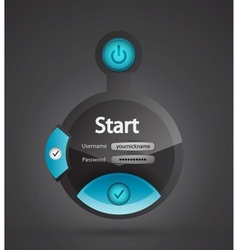 creative login form vector image