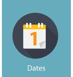 Dates Flat Concept Icon vector