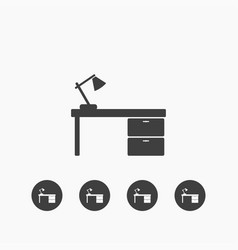 desk icon simple vector image