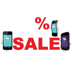 Discount for smartphones sale vector image