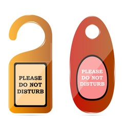 Do not disturb tags vector