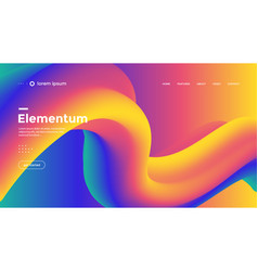 electronic music fest summer wave party poster vector image