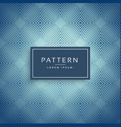 elegant blue pattern design background vector image