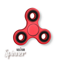 fidget spinner 3d realistic modern relaxation vector image