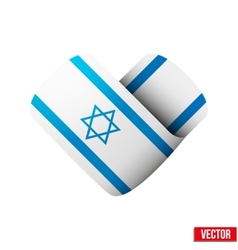 Flag icon in the form of heart I love Israel vector