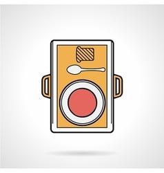 Food tray flat icon vector image