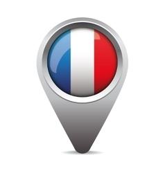 France pointer flag vector image