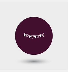 garland flag icon simple vector image