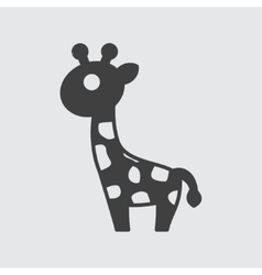 Giraffe icon vector