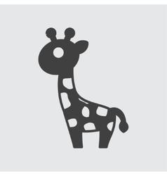 Giraffe icon vector image