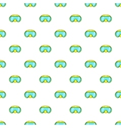 Goggles for diving pattern cartoon style vector