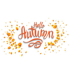 Hello autumn banner vector